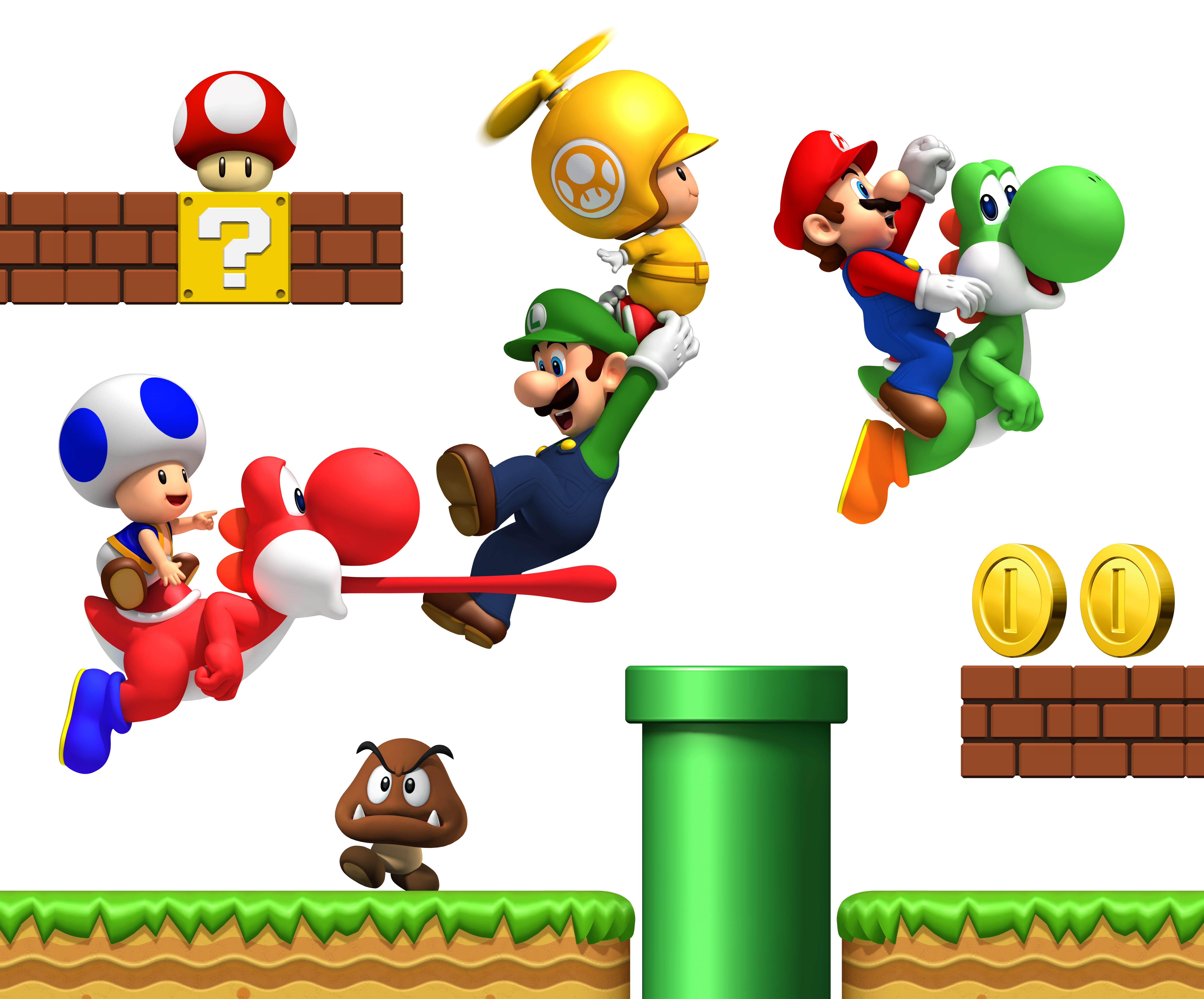 New super mario bros wii wallpaper 39 jeux vid o wallpapers directory - Amis de mario ...