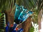 Une belle fleur en verre