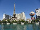 Le Paris Las Vegas depuis les fontaines du Bellagio