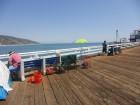Pêcheurs sur le pier de Malibu
