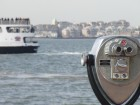 Jumelles sur Liberty Island