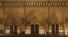 Partie basse de la façade ouest de la cathédrale Notre-Dame de Paris