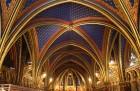 Plafond de la partie basse de la Sainte-Chapelle à Paris