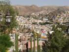 Vue de Guanajuato avec un joli lampadaire