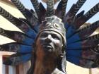 Statue de danse indienne à Santiago de Querétaro