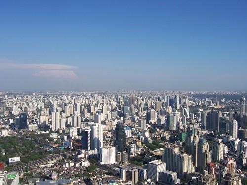 Vue sur des immeubles résidentiels de Bangkok depuis la tour Baiyoke Tower II
