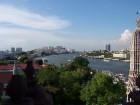 Vue du fleuve Chao Phraya depuis le Wat Arun
