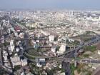 Vue sur un échangeur de Bangkok depuis la tour Baiyoke Tower II