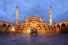 Vue panoramique de la cour de la Mosquée bleue