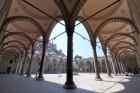 Arcades de la cour intérieure de la Mosquée bleue